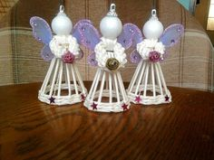 Yule Crafts, Angel Crafts, Diy And Crafts, Christmas Angels, Christmas Art, Christmas Ornaments, Paper Decorations, Christmas Decorations, Safety Pin Crafts