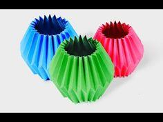 Tutorial 25 - Accordion Ball Paper Folding Origami Decoration - YouTube
