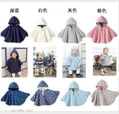 Infant Hoodies Newborn Double-sided Cloak Out