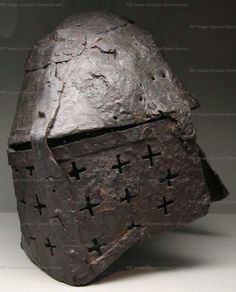 Great Helm, Archaeologie und Museum Basel- Landschaft, Liestal  1340-1370 ref_arm_1470_002