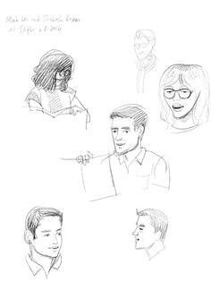 1 of 3 sketches of @bottomshelfbks & @studioroxas presenting LET ME FINISH! at @takoma last night. Congratulations!