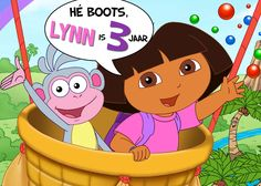 Afbeelding voor Taart voor derde verjaardag Lynn Dora, Boots