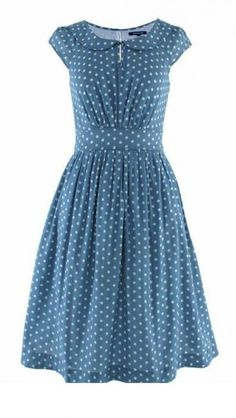 Emily and Fin Poppy Dress Grey-Blue White Polka Dot from Ruby Bow | Made By Emily and Fin | £65.00 | BOUF