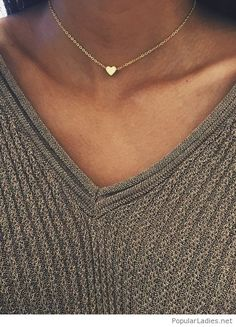 Sweater and gold necklace