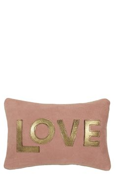 Metallic Love Suede Pillow