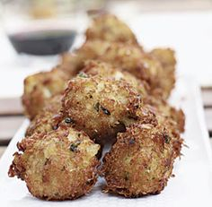 SALT COD AND CRAB FRITTERS   http://www.finecooking.com/recipes/salt-cod-crab-fritters.aspx  ⇨ Follow City Girl at link https://www.pinterest.com/citygirlpideas/ for great pins and recipes!  ☕