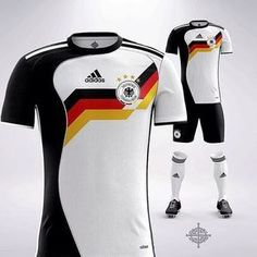 from An adidas 1988 inspired German kit What do you think of this concept? Rate it! Soccer Uniforms, Team Uniforms, Soccer Jerseys, Germany Football, Germany Team, Germany Shirt, Classic Football Shirts, Soccer Skills, Handball