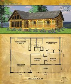 Honest Abe Log Homes designs, manufactures and builds energy-efficient, custom log homes, log cabins and timber frame houses. Our catalog of floor plans features 44 of Honest Abe Log Homes designs with details about materials provided in our log cabi. Log Cabin Floor Plans, Cabin House Plans, Cottage Floor Plans, Family House Plans, Tiny House Cabin, Log Cabin Homes, Dream House Plans, Small House Plans, House Floor Plans