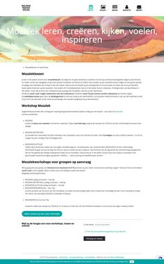 An Wens Webdesign - Mozaiekatelier Web Design, Atelier, Mirrors, Design Web, Website Designs, Site Design