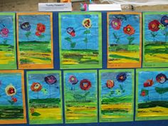 Mixed Media Flowers Remembrance Day, Primary School, Art Projects, Mixed Media, Flowers, Painting, Upper Elementary, Painting Art, Anniversaries