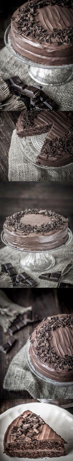 Tarta extra de chocolate / http://midolceparadiso.blogspot.com.es/