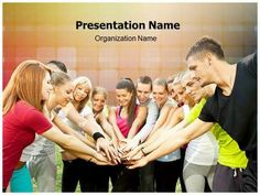 Team Work PowerPoint design template. This #PowerPoint #theme can ...