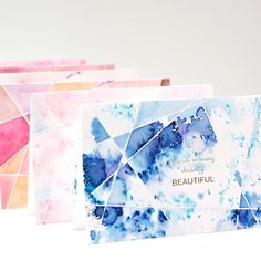 DIY watercolor cards pigment powder pixie paint