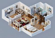 Denah-Desain-Rumah-Minimalis-Modern-4-Kamar-Tidur-3d-6.jpg (645×451)