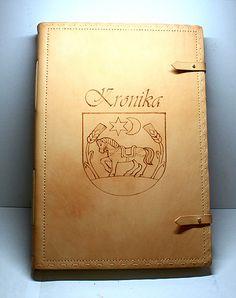 Kozeny zápisnik - veľká kožená kronika A3 / pyrography / leather / bookbinding / handmade /