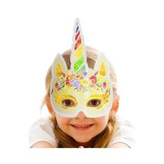 Paper Face Mask, Face Masks, Photo Booth Props, Unicorn Birthday Parties, Party Supplies, Photograph, Rainbow, Space, Check