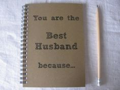 You are the Best Husband because...  5 x 7 by JournalingJane, $6.00