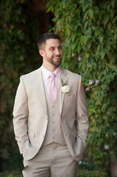 Home> Weddings & Events> Groom Wear> Wedding Tuxedos> Product detail Two Buttons Groom Tuxedos 2019 Notch Lapel Best Man Suit Groomsman Men Wedding Suits Bridegroom (Jacket+Pants+Tie+Vest) Groom And Groomsmen, Groom Wear, Groom Attire, Tan Groomsmen Suits, Beige Suits Wedding, Formal Wedding, Wedding Attire, Wedding Tuxedos, Groomsmen