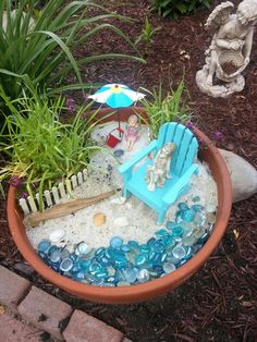 Fairy Garden  Beach Theme