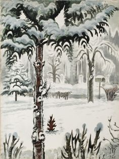 CHARLES BURCHFIELD Constant Leaf (1960)