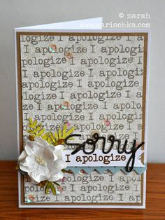 Card by PS GDT Zarah using PS Apologies, Sorry Word die, Borders 3 dies