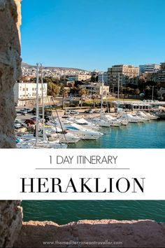1 Day in Heraklion: How to see the highlights of the Cretan capital in 24 hours; including the unmissable Palace of Knossos and where to find the most delicious custard pie ever. Mykonos Greece, Crete Greece, Athens Greece, Greece Food, Best Places To Travel, Places To See, Crete Heraklion, Elounda Crete, Knossos Palace