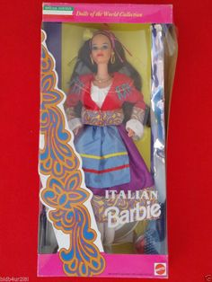 NEW Barbie Dolls of the World ITALY Italian Barbie Doll Mattel 1993 MINT IB NRFB