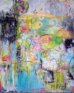 shine....Large Original Abstract painting by Annie Lockhart