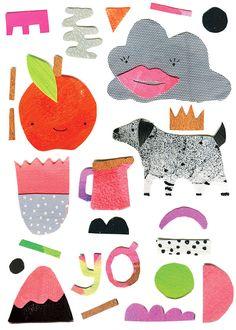 'Enemies Yay' card design by Melbourne design/ illustration collaborators Laura Blythman and Peter Cromer