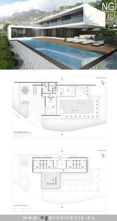 modern house plan Villa Altea designed by NG architects www.ngarchitects.eu