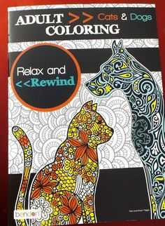Cat & Dog Coloring Book Cats Dogs Wolves Lions Tigers Foxes Paisely Puppies Koyari Kittens for ALL AGES using pens, pencils, markers