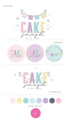 Logo Branding, Branding Design, Logo Design, Note Fonts, Cake Logo, Abstract Logo, Tag Photo, Children's Boutique, Logo Color