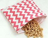 Chevrons (Bubblegum Pink) - green by mamamade Eco-Friendly Reusable Sandwich Bag  Will someone help me make these?
