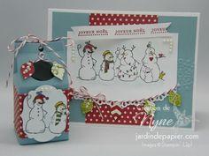 Christmas card and milk box