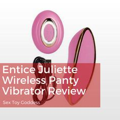 The Juliette Wireless Remote Controlled Silicone Panty Massager is a part of the Entice line of affordable luxury vibrators by California Exotics.  The panty vibrator is designed to be used as a couples sex toy as well as a personal massager. Click link to read full review.