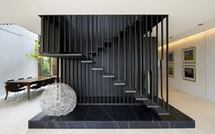 Middle Park House 2 by Chamberlain Javens Architects <~ awesome staircase Stair Handrail, Staircase Railings, Staircase Design, Modern Staircase, Stairways, Interior Stairs, Interior Architecture, Interior Design, Escalier Design