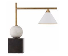 Kelly Wearstler Cleo Lamp — antique brass, stone and bronze