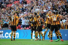 Hull City FA Cup goal and full-time celebrations. Hull City, Semi Final, Fa Cup, Latest Pics, Finals, Celebrations, Basketball Court, Group, Board