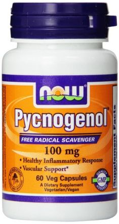 Now Foods Pycnogenol Veg Capsules 100 mg 60 Count -- Check this awesome product by going to the link at the image. (This is an affiliate link) #NutritionalSupplements