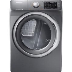 Samsung 7.5 cu. ft. Electric Dryer with Steam in Platinum-DV42H5200EP - The Home Depot - 697.50