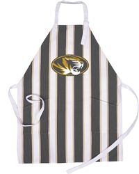Our University of Missourri Tailgate Apron with vintage look and classic stripes is a new fan favorite. USA made and machine washable, we've added two front pockets, making it not only great looking, but functional as well! One size fits all.