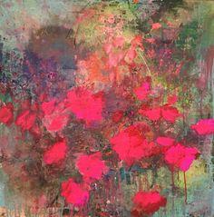 ...abstract flower art by sonja blaess....petit jardin...2016...