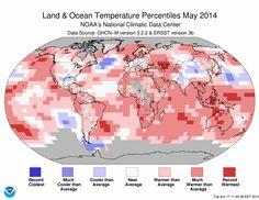 El mayo de 2014 ha sido el más cálido de la historia de las mediciones. El cambio global altera profundamente el concepto de estacionalidad y promedio. La normalidad que conocíamos ha desaparecido. Lo que la sustituya es aún un misterio.