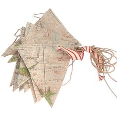 vintage map bunting x
