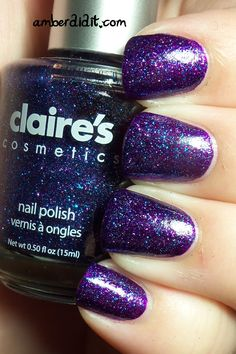 Amber did it!: NOTD: Featuring Claire's Mystical