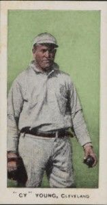 E98 Cy Young error card, the player on the card is Pitcher Irv Young.