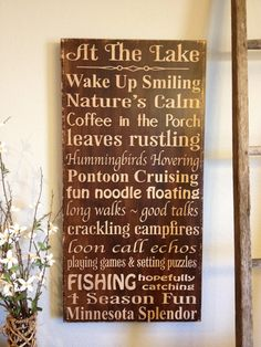 extra large at the lake house - you can customize your sayings. $125.00, via Etsy.