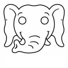 It is a picture of Delicate Elephant Mask Printable