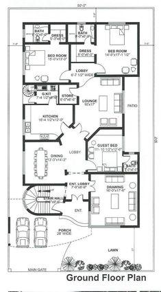 Bestie floor plan room kitchen c 10 Marla House Plan, 2bhk House Plan, House Plans Mansion, Model House Plan, House Layout Plans, Bungalow Floor Plans, Modern House Floor Plans, Best House Plans, Bungalow House Design