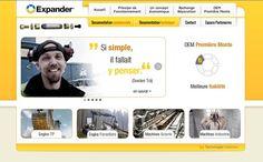 Réalisation Site Internet - Expander - http://www.expander.fr